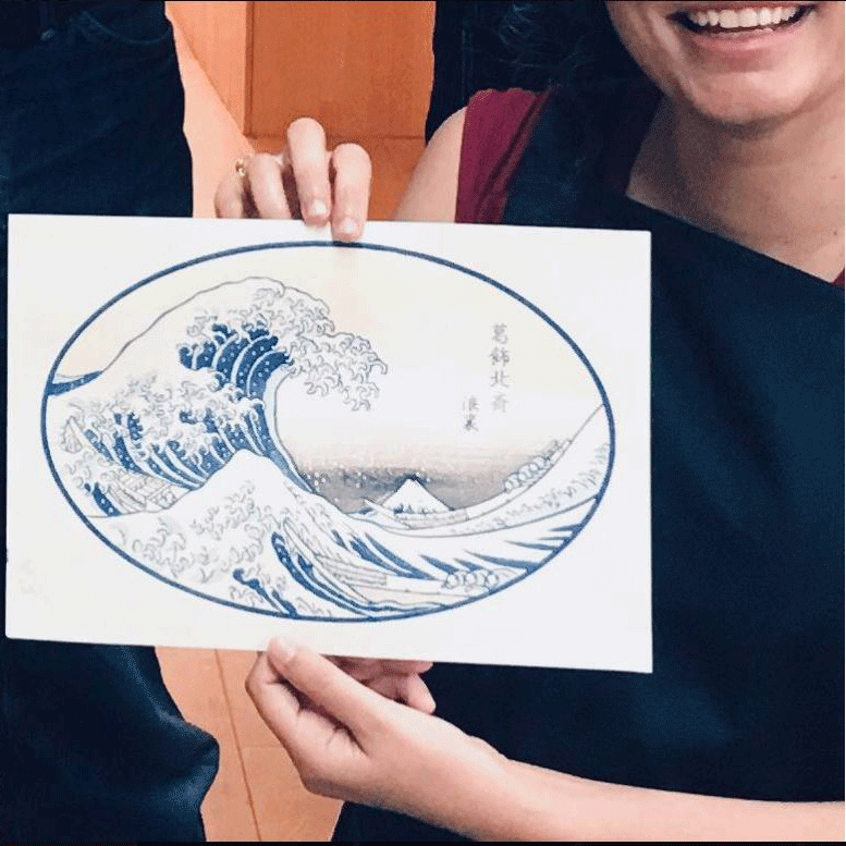 Print of the wave